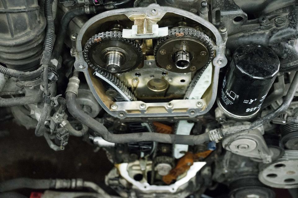 Замена цепи ГРМ Audi A4 1.8 CDHB