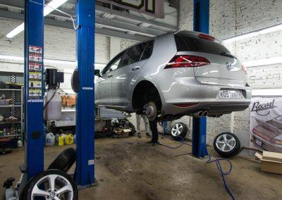 Замена пружин Volkswagen Golf MK7