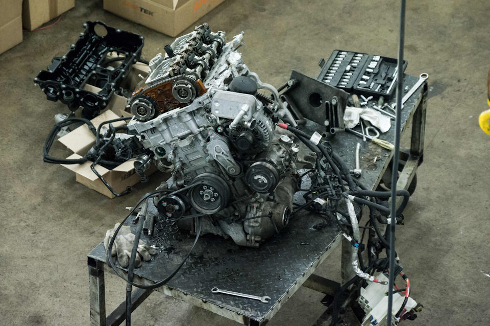 Последствия гидроудара (разбор ДВС BMW N20B20A)
